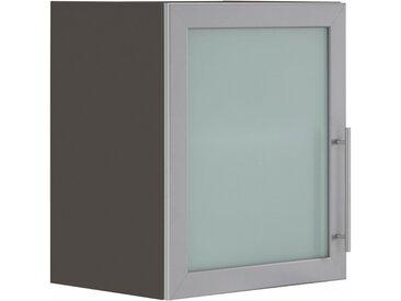 Glashängeschrank »Cali«, 50x56.5x35 cm (BxHxT), wiho Küchen, grau, Material Holzwerkstoff, Glas, Aluminium, Metall