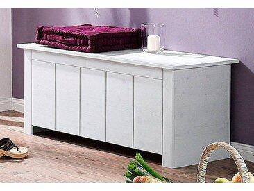 Home affaire Sitztruhe »Bertram«, FSC®-zertifiziert, weiß, Material Kiefernholz