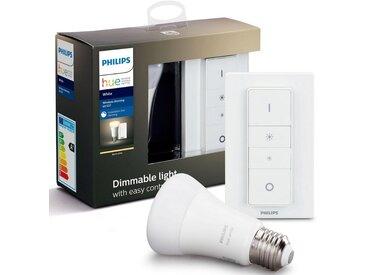 Philips Hue LED-Leuchtmittel »White Wireless Dimming Kit + Dimmschalter«, Energieeffizienzklasse A+, weiß