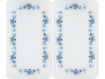 Herdabdeckplatte , weiß »Universal Blaue Rankblüten«, WENKO