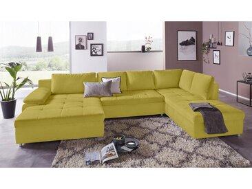sit&more Wohnlandschaft, mit Bettfunktion, mit Federkern, Récamiere rechts oder links, grün, mit Schlaffunktion