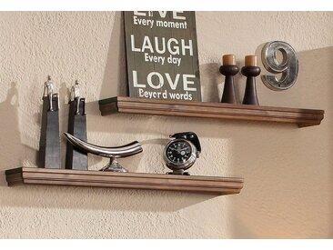 Home affaire Wandboard, 2er Set, Landhaus-Stil, FSC®-zertifiziert, braun, Material Massivholz »Vilma«