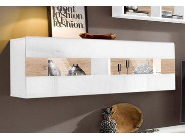 Vitrine »Toledo«, Trendmanufaktur, weiß, Material Holzwerkstoff, MDF, Metall, Melamin, Hochglanz-Fronten