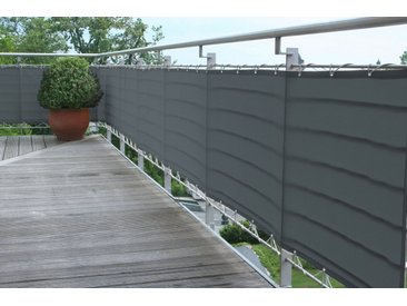 Balkonsichtschutz, 500x500x90 cm (BxLxH), Floracord, grau, Material Polyacryl
