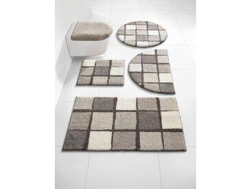 Badezimmer-Garnitur mit weichem Flor, beige, Material Polyacryl, Grund