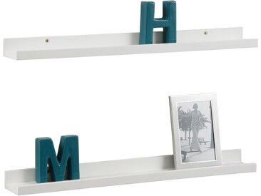 Home affaire Bilderleiste, 2er Set, FSC®-zertifiziert, weiß »Pics«,  lackiert