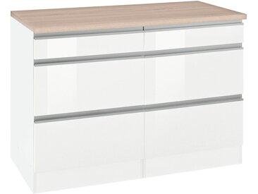 Unterschrank »Ohio«, 120x85x60 cm (BxHxT), Held Möbel, weiß, Material Aluminum, MDF, Metall, Melamin