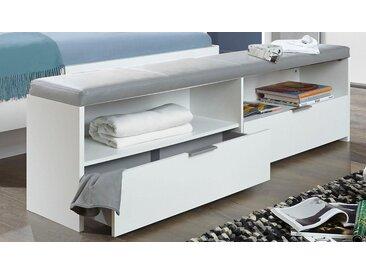 WIMEX  Bett-Bank  »Virgo«, weiß, Material Kunstleder, mit Schubkästen