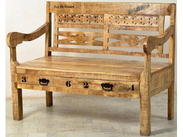 Sitzbank, FSC®-zertifiziert, beige, Material Altholz / Massivholz, SIT-Möbel