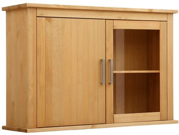 Hängevitrine »Elta«, 121x82x37 cm (BxHxT), Landhaus-Stil, Home affaire, beige, Material Kiefer