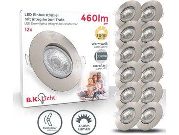 LED Einbauleuchten, grau, B.K.Licht