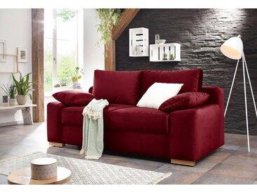 Home affaire  Schlaf-Sofa  »Campine de luxe«, 2-Sitzer, mit Bettfunktion, Landhaus-Stil, rot, mit Schlaffunktion, mit Topper
