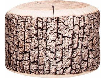 Sitzhocker »DotCom WOOD«, beige, Material Polystyrol / Polyester, Sitting Point