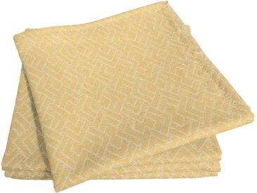Stoffserviette, gelb, Material Bio-Baumwolle »Graphic Ventus Light«, Adam
