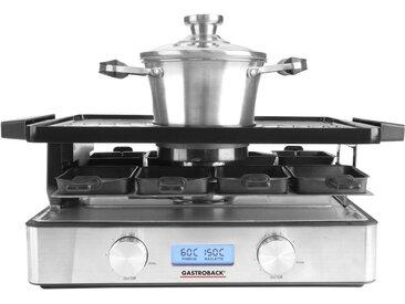 Gastroback Raclette und Fondue-Set 42562 Design Advanced Plus, 9 Raclettepfännchen, 2200 W