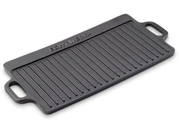 Grillplatte , Gusseisen, Emaille, 50,5 x 23 cm »Big«, schwarz, 50,5 x 23 x 1,5 cm, ECHTWERK