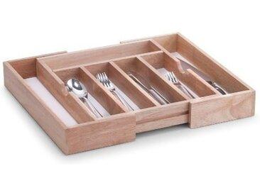Besteckkasten, beige, Material Gummibaumholz, Zeller Present