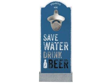 Flaschenöffner , blau, robust, »Save Water«, , , Contento