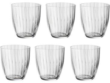 Gläser-Set  , Landhaus-Stil, weiß, Material Glas »Georgia«, BOHEMIA SELECTION, unifarben