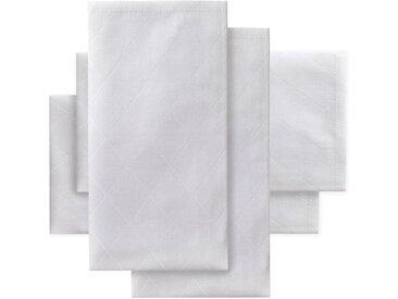 Stoffserviette, 4er Set, Öko-Tex®-zertifiziert »Rhomus«, DDDDD, unifarben