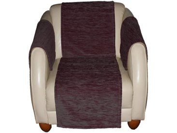 Wirth Sofaüberwurf , lila, Material Stoff / Thermo-Chenille »Miriam«, Meliert, strapazierfähig