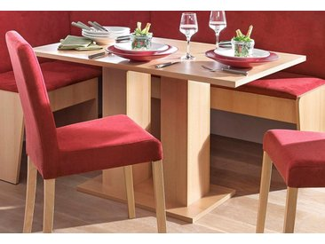 Säulen-Esstisch, 110x75x68 cm (BxHxT), FSC®-zertifiziert, Yourhome, beige, Material Holzwerkstoff