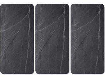 Schneide- und Abdeckplatte , schwarz, »Schiefer-Optik«, KESPER for kitchen & home