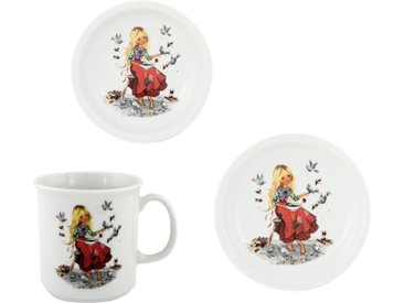 Kindergeschirr-Set, mehrfarbig, Material Porzellan »Aschenputtel«, Eschenbach, Motiv, spülmaschinenfest