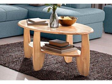 Couch-Tisch, beige, Material Wildeiche / Kernbuche, Premium collection by Home affaire