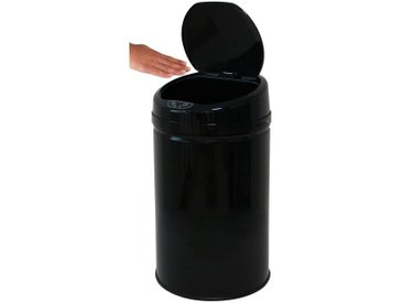 Papierkorb , schwarz »INOX BLACK«, Echtwerk