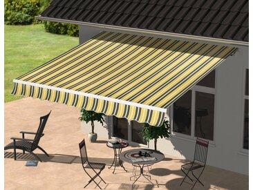 Gelenkarmmarkise Breite/Ausfall: 250/200 cm, Breite 250 cm, KONIFERA, gelb, Material Polyester