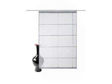 my home Bändchenrollo  »Xana«, H/B: 155/45 cm, grau, Material Stoff / Voile