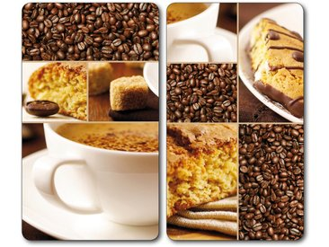 Herdabdeckplatte , braun, Material Glas »Coffee«, Bischof