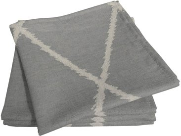 Stoffserviette, grau, Material Bio-Baumwolle »Casket Valdelana Light«, Adam