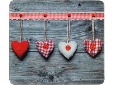 Herdabdeckplatte , beige »Herzen«, WENKO