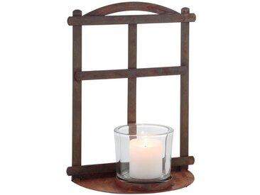 Kerzenständer , braun, Material Metall / Glas »Metallfenster«, dio Only for You.