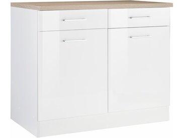 Unterschrank »Utah«, 100x85x60 cm (BxHxT), Held Möbel, weiß, Material Metall, MDF, Soft-Close-Funktion