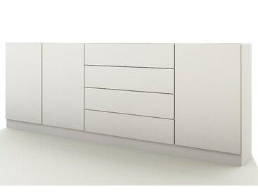 borchardt Möbel Kommode, 190x35x79 cm, weiß »Vaasa«, Push to open-Funktion