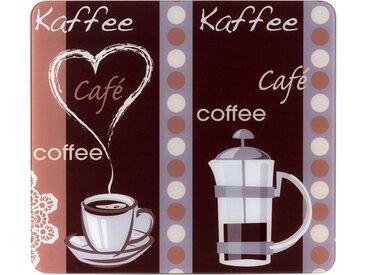 Abdeckplatte, mehrfarbig »Kaffeeduft«, WENKO