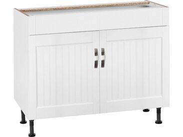 Spülschrank Breite 100 cm, weiß, »Cara«,