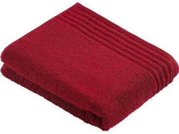 Sauna-Handtuch  , rot, Material Baumwolle »Vienna Style Supersoft«, Vossen, Unifarben