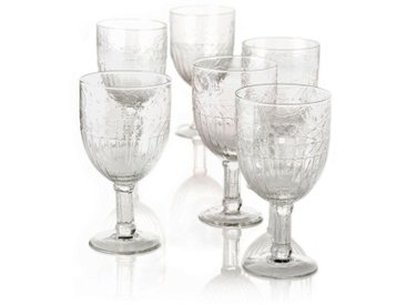 Weißweinglas , transparent,