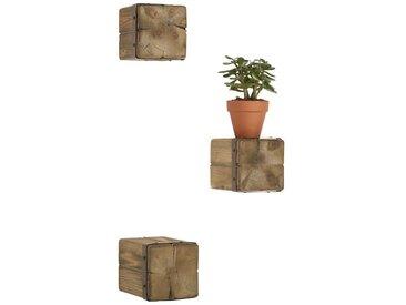 Wandregal, beige, Material Massivholz / Metall, heine home