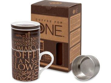 Könitz French Press 100% on dark brown, 0,33l Kaffeekanne, Coffee for one
