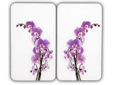 Herd-Abdeckplatte »Orchideenblüte«, weiß, Material Glas, WENKO