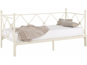 Home affaire Daybett »Jenny«, weiß, Material Metall