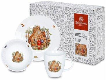 Kindergeschirr-Set, mehrfarbig, Material Porzellan »Hänsel und Gretel«, Könitz, Motiv, spülmaschinengeeignet