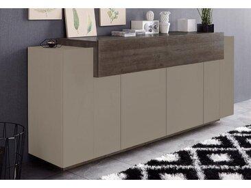 Tecnos Sideboard »Asia«, 200x45x85 cm, FSC®-zertifiziert, beige, Push to open-Funktion