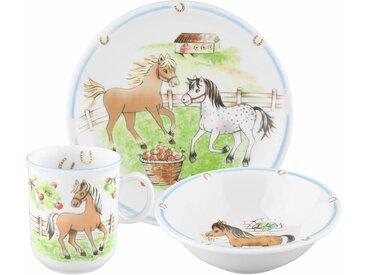 Kindergeschirr-Set, mehrfarbig, Material Porzellan »Compact Mein Pony«, Seltmann Weiden, Motiv, spülmaschinenfest