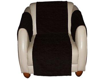 Wirth Sofaüberwurf , schwarz, Material Stoff / Thermo-Chenille »Miriam«, Meliert, strapazierfähig